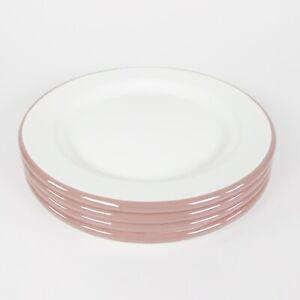 "Enamel Steel Dusty Pink Rim 8"" Salad Plate Set of 4 - Hearth and Hand Magnolia"