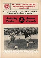 DDR-Liga 87/88 ZEPA Sajonia anillo Zwickau-BSG Robotron Sömmerda, 17.04.1988