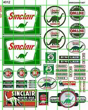 4012 HO 1:87 DAVE'S DECALS VINTAGE SINCLAIR GAS/OIL SIGNS ADVERTISING