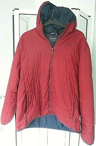 """CRAGHOPPERS RED LIGHTWEIGH HOODED QUILTED COAT JACKET UK 2XL XXL 46"""" 117cm EU 58"""