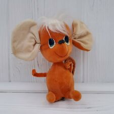 "Vintage 1966 Kamar Japan Orange Mouse 5.5"" Plush"