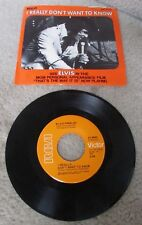 "1971 ELVIS PRESLEY-I Really Don't Want To Know-Picture Sleeve-RCA 7"" 45 Record"