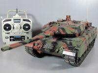Use Tamiya R/C 1/16 Leopard 2A6 Full Option w/ DMD Control Unit Tank Futaba RTR
