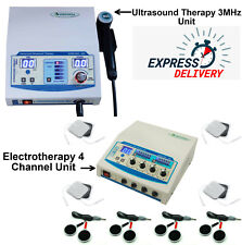 Electrotherapy 4 Channel Amp Ultrasound Therapy 3mhz Combo Prof Amp Home Use Machine