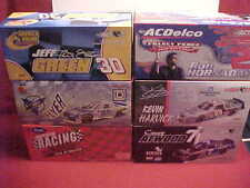 #8 #55 #30 #7 #29 #2 MULTIPLE 1/24 CLEAR WINDOW CARS & BANK 1/2 CASE (6) CAR LOT