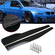 Pair Universal Black Side Skirt Rocker Splitters Winglet Wings Canard Diffuser !