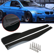 Pair Universal Black Side Skirt Rocker Splitters Winglet Wings Canard Diffuser