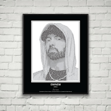 Original Eminem Poster in his own words. Image made of Eminem quotes!