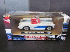 New-Ray Toys City Cruiser 1957 Chevy Chevrolet Corvette Convertible Diecast 1/43