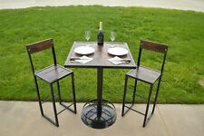 Custom Made 3 piece table and Barstool set