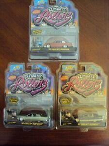 Lot of 3 Jada Homie Rollers Cadillacs, MOC 2004