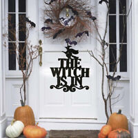 Halloween The Witch Is In Sign Non-woven Witch Hanging On Party DecoratioGJ