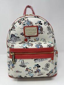 Disney Riviera Resort Loungefly Backpack Mickey, Minnie, Donald, Daisy NEW