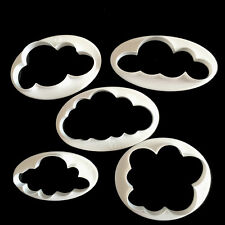 5x Cloud Cake Cutter Mold Fondant Pastry Cookie Sheep Mould Decor DIY ToolDL!A