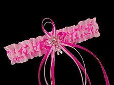 PINK RIBBON BREAST CANCER WALK Survivor Satin Wedding GARTER Bridal PROM CHARM