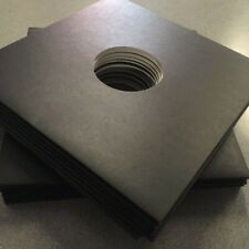 """12"""" Black 3mm Spined Record Sleeves for Albums / EP's - Pack of 200 - Free Post"""