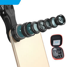 7 In 1 Macro Optical Wide Lens Fish Eye Clip-on Telescope Camera For Cell Phone