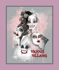 "VICIOUS VILLAINS PANEL Quilt Top 100% cotton Fabric by the panel 36"" X 43"""