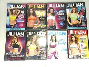 Jillian Michaels (8 LOT) DVD NEW Exercise Video Hard Body Shred Ripped