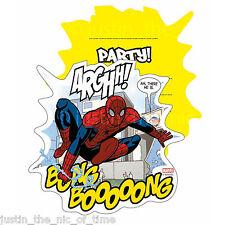 Ultimate SPIDERMAN FUMETTO ragazzi festa di compleanno Inviti Buste INVITI x6