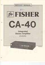 FISHER Service Manual Anleitung CA-40   B1473