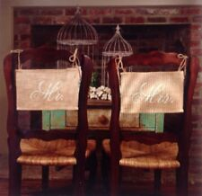 BURLAP CHAIR BANNER MR MRS Set for Wedding and Anniversary