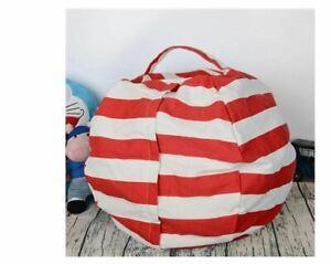 CUTE Stuffed Animal Bean Bag Storage Chair Children Play Toys Organizer Portable