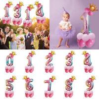 32 inch Crown Number Foil Balloon Digit Ballon Wedding Birthday Party Decor New