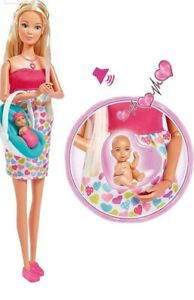 NEW 2020 Steffi Love Doll- NEWBORN Baby Set Sounds Interactive POSABLE Pregnant