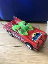 Vintage Batmobile Tin Car Battery Operated Works Great Batman & Robin Tin Car