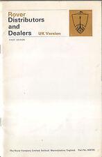 Rover Distributors & Dealers original Booklet, 1968 1st edition Pub. No 605725