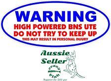 WARNING BNS UTE Sticker 200 x 90 mm   BUY 2 stickers & Receive 3