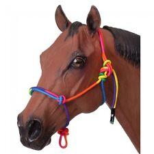 Tough-1 Multi-Colored MINIATURE Rope Halter  - MINI SMALL  - Rainbow  - NWT