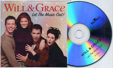 Will & Grace - Let The Music Out! UK 15-trk promo test CD Elton John Queen Dido