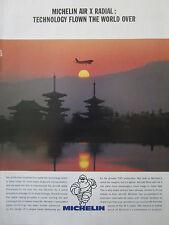 11/1991 PUB MICHELIN AIR X RADIAL TIRE PNEU AVIATION AIRLINER ORIGINAL AD