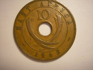 East Africa 1942 Ten Cents, King George VI, KM# 26.2, 10 Cents, London