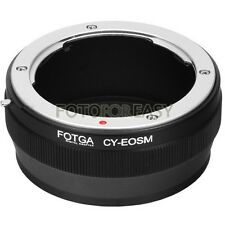 FOTGA Adapter for Contax Yashica CY Mount lens to Canon EF-M EOS M M3 M5 M6 M10