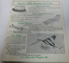 L.L. Bean Catalog 1963 Summer Circular 24 pages excellent