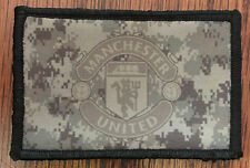 Manchester United Soccer Morale Patch Tactical Military Army Flag Badge Hook