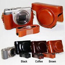 Leather Camera case bag Cover For Sony Cyber-Shot DSC-HX60V HX60 HX50 HX50V