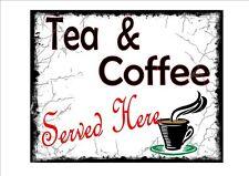 Vintage Rétro Style Tea Shop Publicité signe porte signe, salons de thé SIGNE