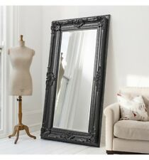 Large Floor mirror ornate style mirror with detailing in a black frame mirror