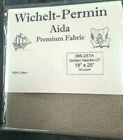 "Wichelt Imports PREMIUM Cross Stitch Fabric AIDA 14 ct 18"" X 25"" GOLDEN NEEDLE"