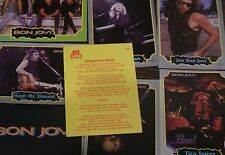 LOT 9 ROCK CARDS AND STICKERS BON JOVI  FROM  ARGENTINA 1997