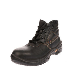 Leather Work Boots EU 38 UK 5 US 8 Traxion Shock Absorber Metal Shank Laces