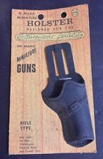 1960s MARX Brown HOLSTER designed for the Collector's Series of Miniature Guns