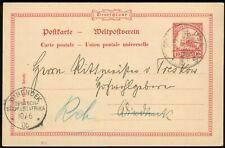 DSW,Ganzsache P14, Usakos-Windhuk, gerichtet a. d. Rittmeister v. Treskow, top