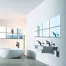 16pcs Miroirs Mosaic Tiles adhésifs Autocollant muraux carrés Decal Décoration