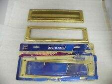 Used Schlage Mail Slot Inside and Outside Solid Brass and extra new Inside Plate