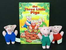 The Three Little Pigs - Book + Three Pigs Dolls + Carrying Case